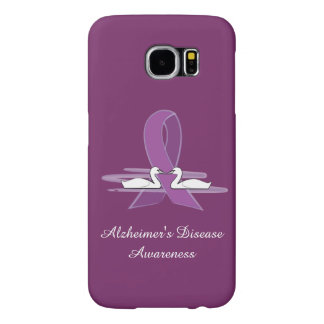 Alzheimer's Purple Awareness Ribbon with Swans Samsung Galaxy S6 Case
