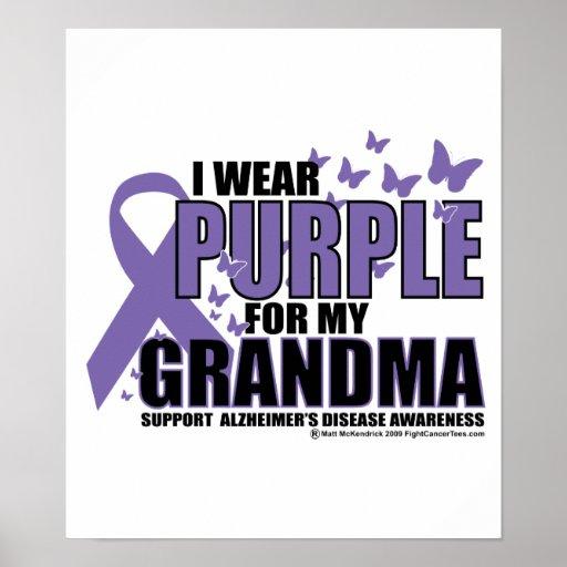 Alzheimers Purple For GRANDMA Poster