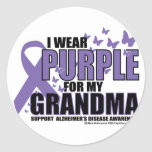 Alzheimers Purple For GRANDMA Sticker