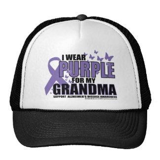 Alzheimers Purple For GRANDMA Trucker Hat