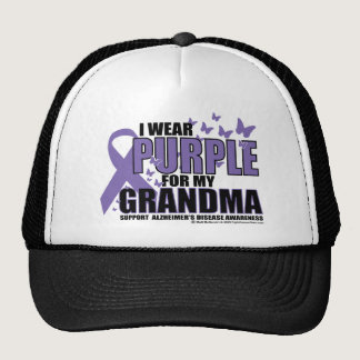 Alzheimers Purple For GRANDMA Trucker Hat