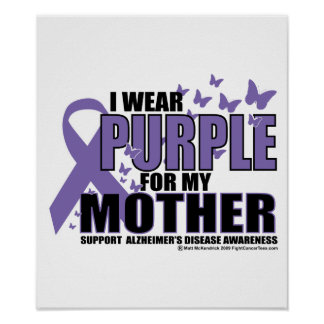 Alzheimers Purple For MOTHER Print