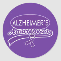 Alzheimer's Purple Ribbon sticker seals