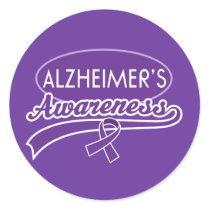 Alzheimer's Purple Ribbon sticker seals