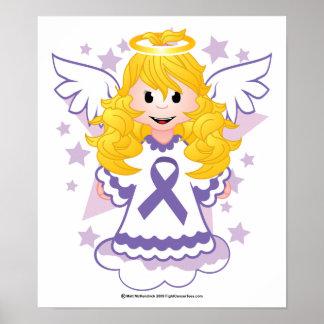 Alzheimers Ribbon Angel Poster