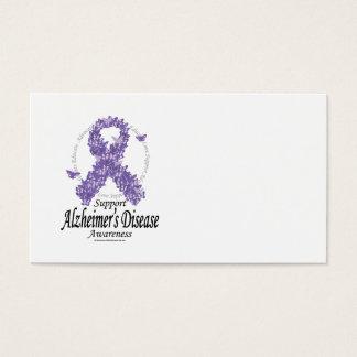 Alzheimers Ribbon of Butterflies Business Card