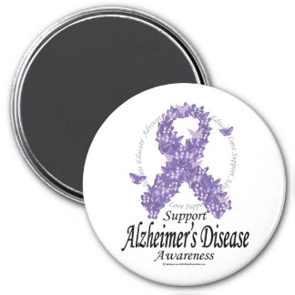 Alzheimers Ribbon of Butterflies Magnet