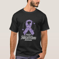 Alzheimers Ribbon of Butterflies T-Shirt
