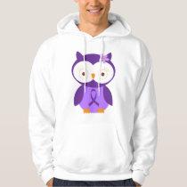 Alzheimers Ribbon Owl Hoodie Gift