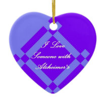 Alzheimer's Scandinavian Heart Ornament