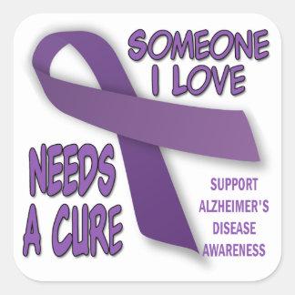 Alzheimer's Support Square Sticker