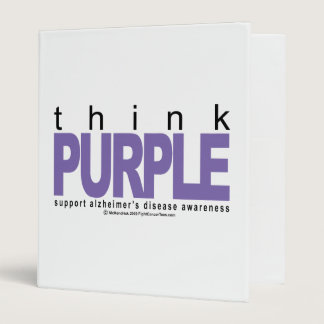 Alzheimers THINK Purple 3 Ring Binder