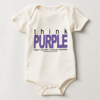 Alzheimers THINK Purple Baby Bodysuit