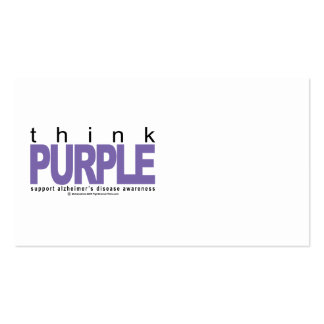 Alzheimers THINK Purple Business Cards
