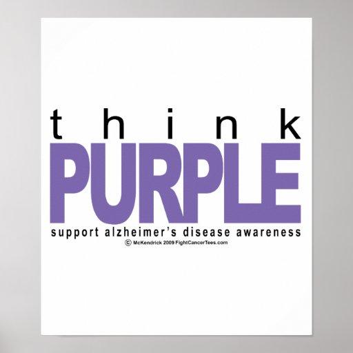 Alzheimers THINK Purple Print