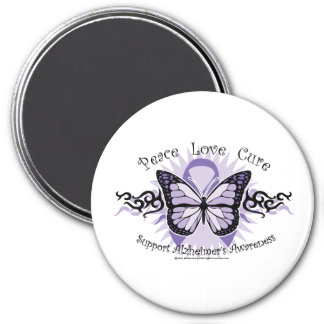Alzheimers Tribal Butterfly Refrigerator Magnets