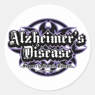 Alzheimers Tribal Classic Round Sticker
