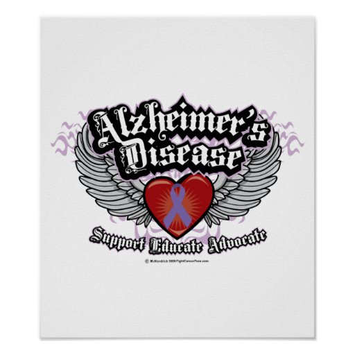 Alzheimers Wings Poster