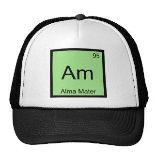 Am - Alma Mater Chemistry Element Symbol T-Shirt Trucker Hat