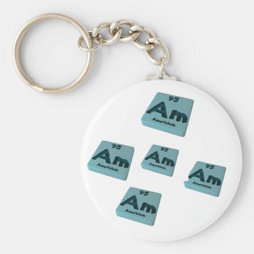 Am Americium Key Chains