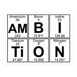 Am-B-I-Ti-O-N (ambition) - Full Postcard