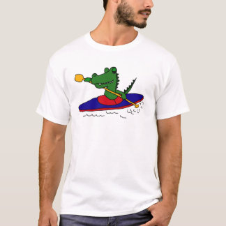 AM- Funny Gator Kayaking T-Shirt