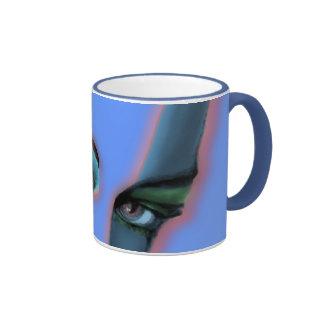am i beautiful tonight ? ringer coffee mug