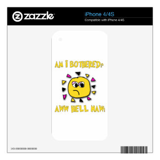 Am i bothered aww hell naw-dark decal for the iPhone 4S
