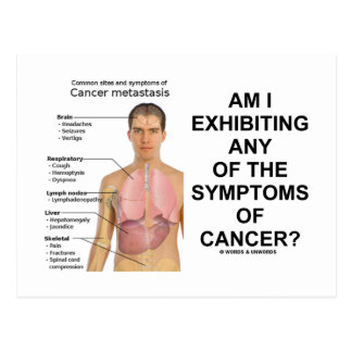 Am I Exhibiting Any Symptoms Of Cancer? Post Cards