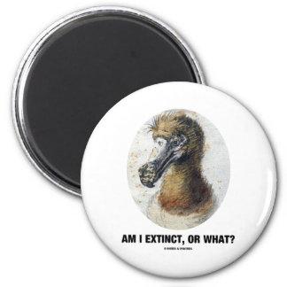 Am I Extinct, Or What? (Dodo Bird Portrait) 2 Inch Round Magnet