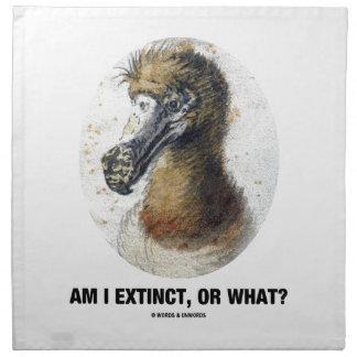 Am I Extinct, Or What? (Dodo Bird Portrait) Cloth Napkin