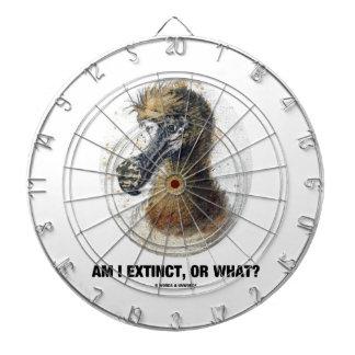 Am I Extinct, Or What? (Dodo Bird Portrait) Dartboard