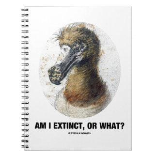 Am I Extinct, Or What? (Dodo Bird Portrait) Notebook