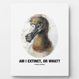 Am I Extinct, Or What? (Dodo Bird Portrait) Plaque