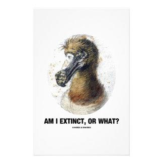 Am I Extinct, Or What? (Dodo Bird Portrait) Stationery