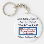Am I Free To Go? Basic Round Button Keychain