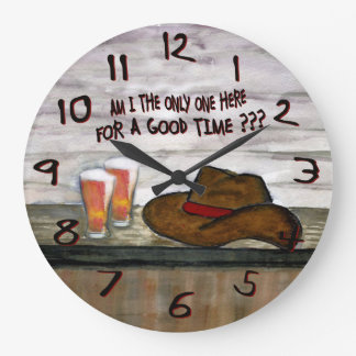 am i the only one here for a good time wall clock