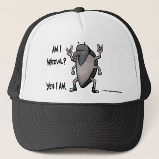 Am I Weevil Heavy Metal Cartoon Trucker Hat