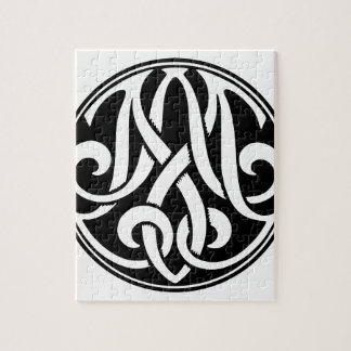 AM / MA Monogram with Hyperspace Graphic Puzzles