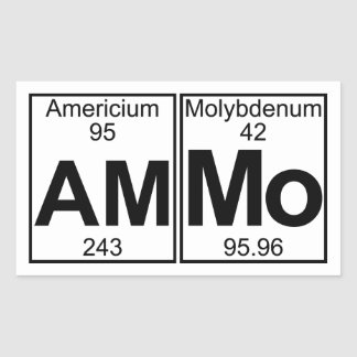 Am-mo (ammo) - Full Rectangle Stickers