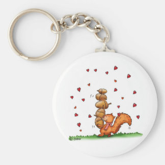 am nuts about you -humorous - Valentine's Day Gift Keychain