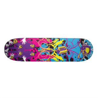 "AM Radio ""Skulls & Mics"" Skateboard Deck"