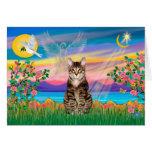Am. SH Tabby Tiger Cat - Guardian Angel (#2) Greeting Card