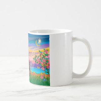 Am. SH Tabby Tiger Cat - Guardian Angel (#2) Classic White Coffee Mug