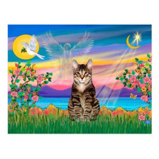 Am. SH Tabby Tiger Cat - Guardian Angel (#2) Postcard