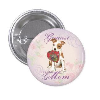 Am Staff Heart Mom Pinback Button