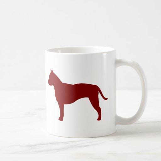 Am Staffordshire Terrier (Red) Coffee Mug