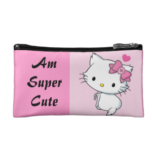 Am super cute- front & I love my daughter- back Makeup Bag