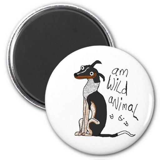 Am Wild Animal 2 Inch Round Magnet
