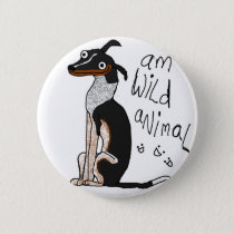 Am Wild Animal Button